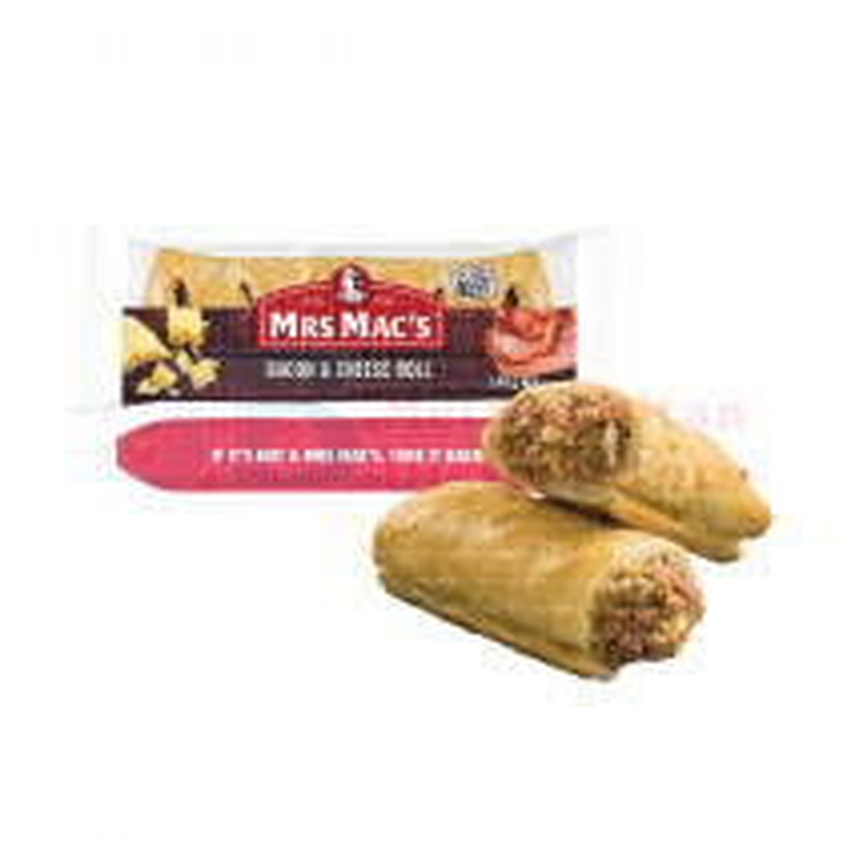 140G MRS MAC'S BACON & CHEESE ROLL