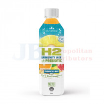 500ML H2 IMMUNITY MIX WITH PREBIOTIC TROPICAL MIX