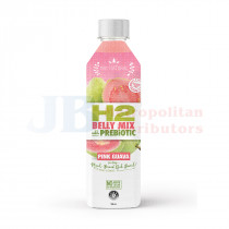 500ML H2 BELLY MIX WITH PREBIOTIC PINK GUAVA